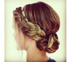 Vlecht met haarbandje
