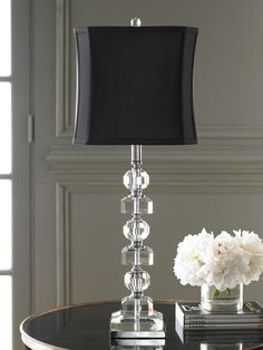 Shop Stacked Crystals Table Lamp at Horchow, where you'll find new lower shipping on hundreds of home furnishings and gifts. Neiman Marcus Home, Traditional Table Lamps, I Love Lamp, Bedside Lamp, Bed Lamps, Tall Lamps, Lamp Shades, Lamp Design, Decoration