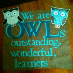 Owl themed banner for classroom