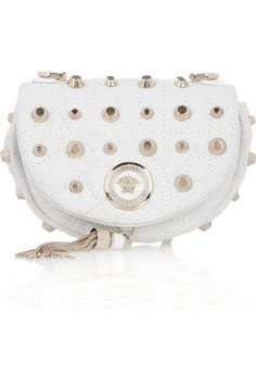 Versace Small studded leather shoulder bag #accessories #handbag