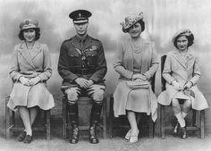 Princess Elizabeth (Queen Elizabeth II), George VI, Queen Elizabeth (The Queen Mother) and Princess Margaret Princess Elizabeth, Princess Margaret, Queen Elizabeth Ii, Margaret Rose, Princess Sophia, George Vi, Hm The Queen, Save The Queen, English Royalty
