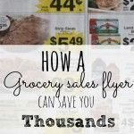How a grocery flyer can help you save thousands a year!