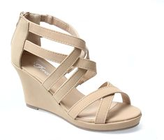 Forever Tunas-74 Women CrissCross Ankle Strappy Back Zip Wedge Platform Gladiator Sandal *** You can get more details here : Gladiator sandals