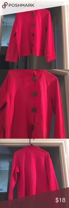 Norm Thompson light jacket Wooden buttons Norm Thompson Jackets & Coats