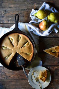 Simple Cinnamon Pear Coffee Cake