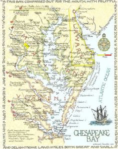 Map of the Chesapeake Bay.