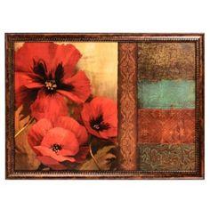 Elegant Poppies Framed Art Print