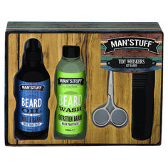 1 x Technic Man Tidy Whiskers Beard Grooming Kit. A fantastic boxed gift set with everything you need to keep your beard trim & tidy. 1 x Beard Shampoo Wash - 1 x Beard Oil - 1 x Beard Wax - Barber Gifts, Beard Wax, Beard Grooming Kits, Beard Shampoo, Perfect Beard, Vash, Beard Lover, Beard Trimming, Face Wash