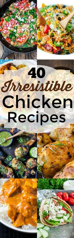 40 Irresistible Chicken Recipes from Noshing With The Nolands will take the humdrum out of dinner with these delicious dishes you just have to try!