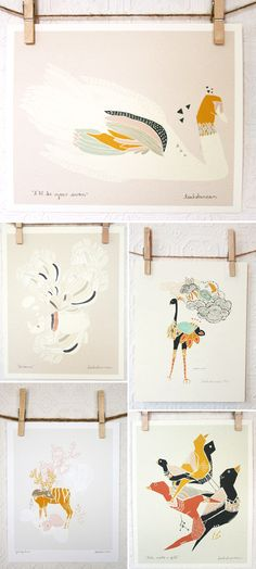 Love these little prints. About $20-$30 each