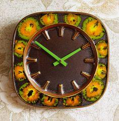 Funky vintage Junghans ceramic clock