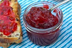 30 minute microwave strawberry jam.