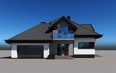 projekt Alicja N 2G+ House Elevation, Design Case, Pool Houses, Home Fashion, House Plans, Sweet Home, Cabin, Mansions, Architecture