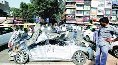 Delhi: Heading to airport 2 men killed as container falls on their car crushes them Traffic Police, Police Call, Honda City, Event Management Company, Medical Examination, Indian Express, Man Kill, Police Station, Crushes