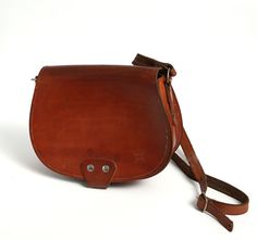 Vintage brown leather bag leather messenger bag by mmvintagestore