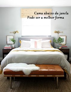 How to Turn an Ikea Coffee Table Into the Bedroom Bench of Your Dreams Cozy Bedroom, Master Bedroom, Narrow Bedroom, Camas King, Sheepskin Rug, Custom Rugs, Model Homes, Small Apartments, Decoration