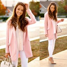 Get this look: http://lb.nu/look/6977122  More looks by Jessica R.: http://lb.nu/hapatime  Items in this look:  Sheinside Pink Coat, Schutz Nude Heels, Michael Kors Bag   #chic #romantic #street