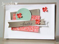 Stampin' Up! Workshop Bestellen Demostratrice Friesland Janneke de Jong Kaart Envelop Stempels Cadeautjes Scrappen Party Time Thanks In Colors 2015 - 2017