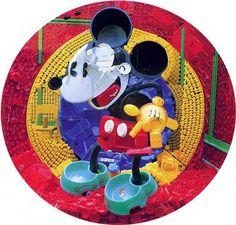 Mickey Mouse, trash art by Bernard Pras.