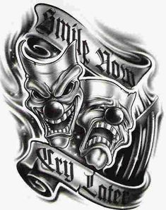 Simle now Cry later gonna be the new tattoo