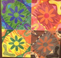 """Kaleidoscope"" by Ashly Norman from the Goodson Middle School art program. #ArtColony #HouArtFest"