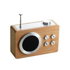 Lexon Radio Dolmen Bamboo | Klevering