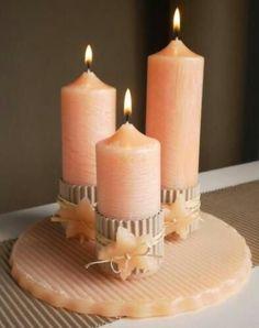 coral.quenalbertini: Soft peach candles