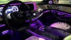 For generations, an S-Class Sedan has been instantly recognizable not just for its iconic design, but for predicting the future of the automobile. Mercedes S Class Interior, Mercedes Benz, New Car Accessories, Custom Car Interior, Interior Design, Inside Car, Purple Interior, Car Upholstery, Car Mods