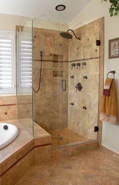 Noble Niche (#304) installation by Mike Finley of Rocky Mountain Bathrooms, as seen on contractortalkcom. Master Bath Remodel, Diy Bathroom Remodel, Shower Remodel, Bathroom Renos, Washroom, Bathroom Renovations, Tub Remodel, Home Remodeling, Design Bathroom