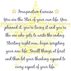 Love this! #Imagination #Exercise for #Maifesting