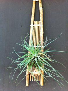 Bamboo Ikebana wall hanging. $18