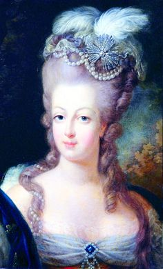The hair styles of 1770s were associated with Marie Antoinette. Hair was nearly always curled, waved, or frizzed before styling in order to create texture. Styling was accomplished with combs and curling irons, held with pins, and dressed with pomade. When height was desired, it was raised over pads made of wool, tow and hemp.