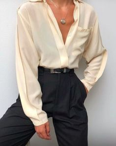 Vintage silk paired with Na Nin Townes Trousers in black raw silk. Shop online n… - Vintage silk paired with Na Nin Townes Trousers in black raw silk. Shop online n… Vintage silk paired with Na Nin Townes Trousers in black raw silk. Shop online now 💧 – - Casual Skirts, Casual Outfits, Cute Outfits, Casual Shoes, Dress Outfits, Summer Outfits, Trouser Outfits, Work Outfits, Winter Outfits