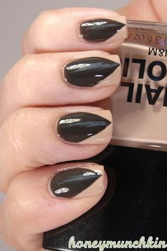 Paint your nails to look sharp & pointy for Halloween!