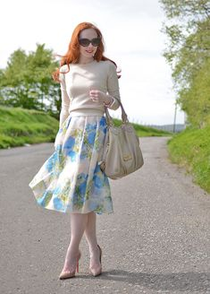 floral 50s style full skirt from Boden