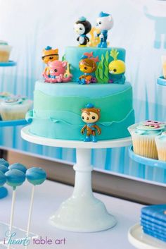 Octonauts themed birthday party with Such Cute Ideas via Kara's Party Ideas | Cake, decor, cupcakes, games, and MORE! KarasPartyIdeas.com #octonauts #octonautsparty #partydecor #partyplanning #partyideas #partystyling (11)