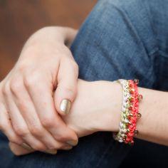 Crochet Beaded Bracelet DIY