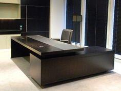 CEO Executive Desk cakepins.com Law Office Design, Office Table Design, Office Furniture Design, Office Seating, Office Interior Design, Office Interiors, Office Designs, Modern Executive Desk, Modern Office Desk