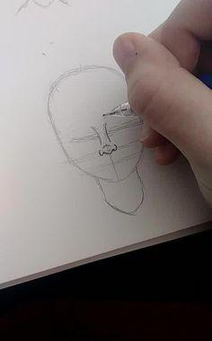 Drawing tips, pencil drawing tutorials, drawing ideas, manga drawing, art. Drawing Techniques, Drawing Tips, Drawing Sketches, Drawing Ideas, Drawing Faces, Sketching, Cartoon Drawing Styles, Simple Face Drawing, Drawing Drawing