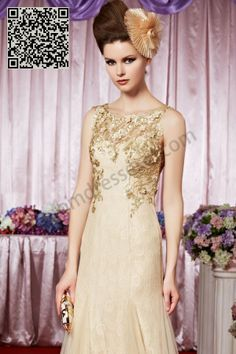 Prom dresses 2014 - Gold Spoon neck Backless Sequin Long Evening Dress SO368
