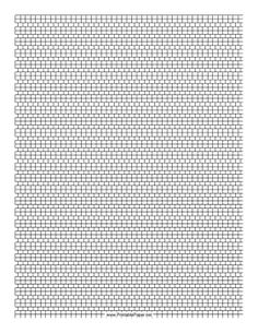 This 2-1 Cylinder Bead Square Pattern beadwork layout graph paper features cylindrical beads in an alternating two-row and single-row square pattern. Free to download and print