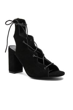 ba833b579cb Urge | Shine Sandals in Black Suede with Lace-up front with wrap tie closure