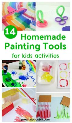 14 homemade painting tools for kids painting activities #diy #paintingwithkids #kidsart #prekteacher