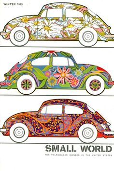 VW Bug. I would love to have a bug to paint and design like this!