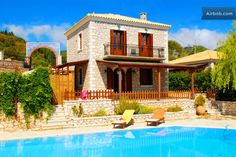 VILLA WITH PRIVATE POOL IN LEFKADA in Lefkada