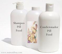 Fórmula para mandar manipular do shampoo e do condicionador pill food para fortalecer e acelerar o crescimento dos cabelos.