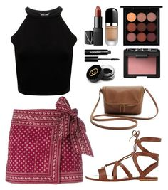 """""""Day 254"""" by msmaharaja on Polyvore featuring NARS Cosmetics, Étoile Isabel Marant, Marc Jacobs, MAC Cosmetics, Gucci, Bobbi Brown Cosmetics and Gianvito Rossi"""