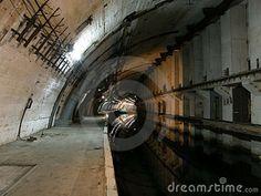 Abandoned Military Underground Bunker   Underground Nuclear Shelter For Submarines Stock Image - Image ...