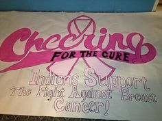 Breast cancer football banner