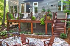 Back deck with patio & fire pit (but i want to the side